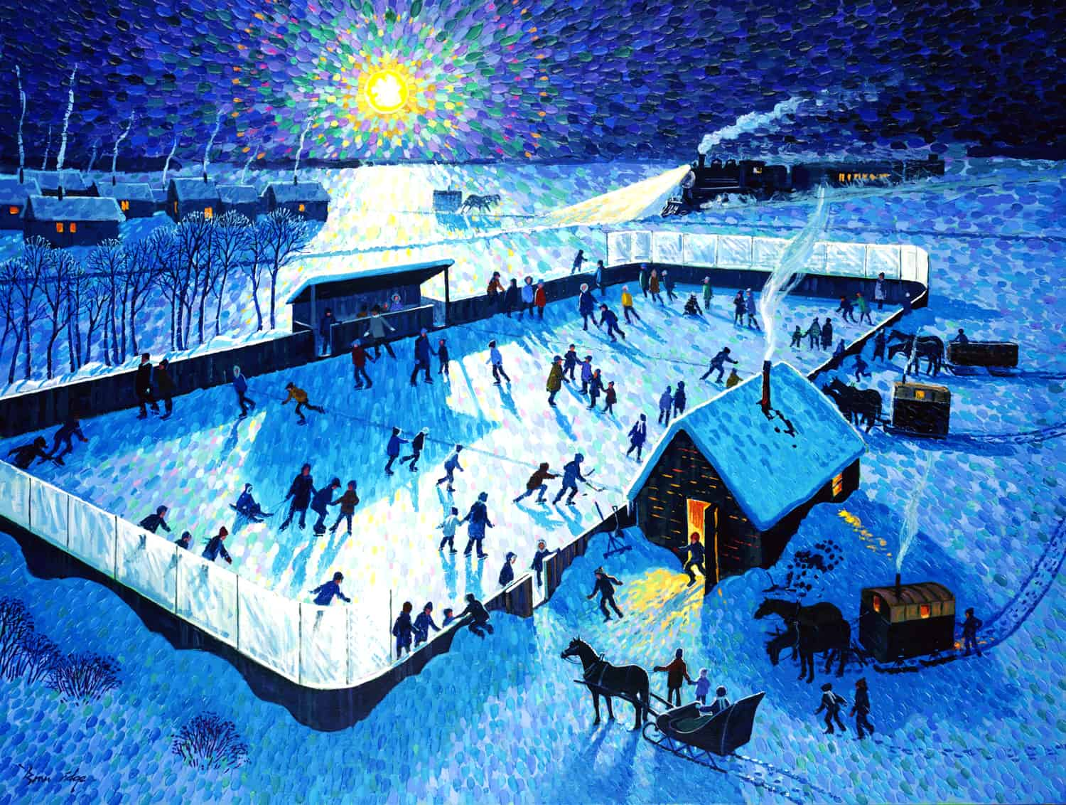 Skating Rink by Moonlight