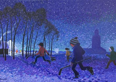 Night Rink Magic by Bill Brownridge