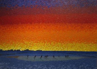 Prairie Winter Sunset by Bill Brownridge
