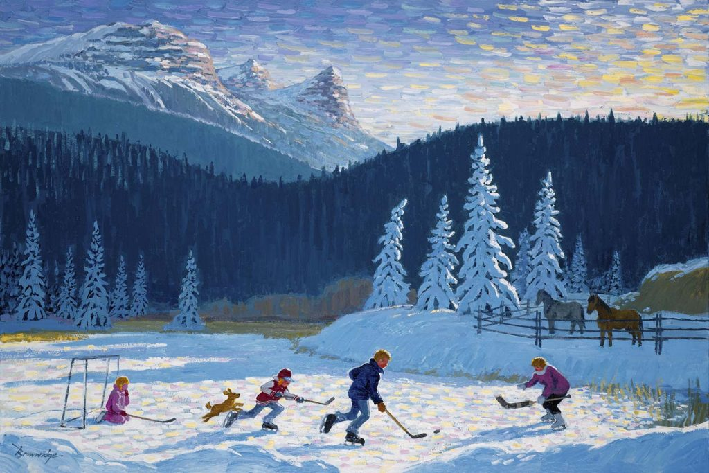 Shinny Near Canmore by Bill Brownridge