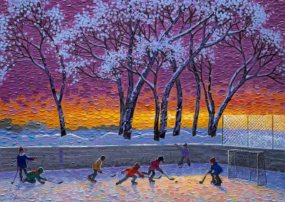 Dusk at the Rink by Bill Brownridge